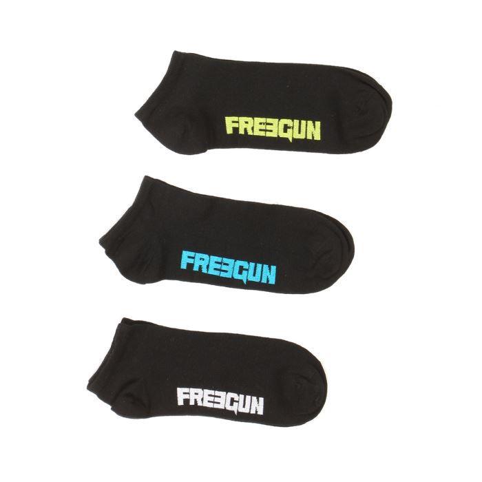 freegun lot de 3 chaussettes courtes homme noir achat vente chaussettes cdiscount. Black Bedroom Furniture Sets. Home Design Ideas