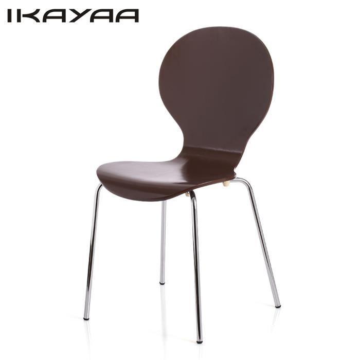2pcs chaise de salle manger en bois de bouleau for Chaise salle a manger fer et bois