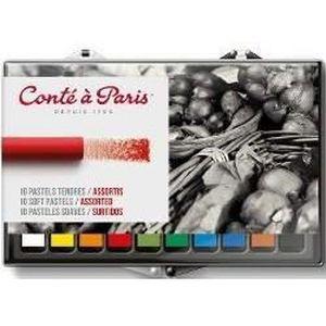 CONTE A PARIS Set 10 pastels tendres assortis