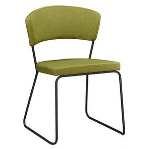 CHAISE Chaise design en tissu MYRSTO vert   Par 4