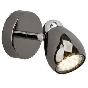 SPOTS - LIGNE DE SPOTS Spot patère LED Milano 1x GU10 3W chrome et noir c