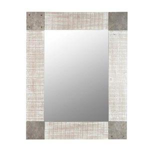 Meuble salle de bain marron achat vente meuble salle for Miroir paris 18