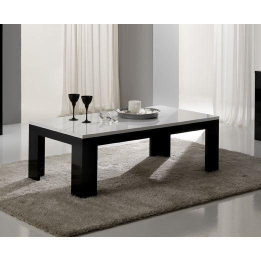 Table basse pisa blanc et noir achat vente table basse table basse pisa blanc et - Table basse blanc et noir ...