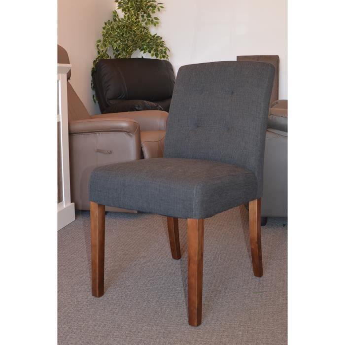 lot de 2 chaises tissu meuble house achat vente chaise cdiscount. Black Bedroom Furniture Sets. Home Design Ideas