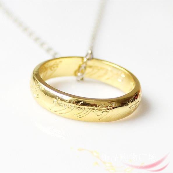 Bague anneau doré pendentifstyle seigneur des anneaux Taille Fr de l ...
