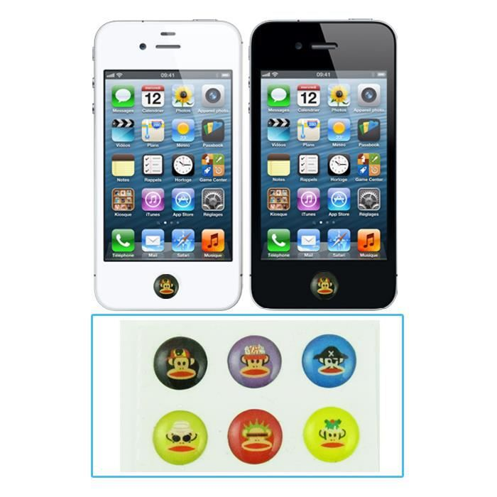 Autocollant Bouton Home Iphone