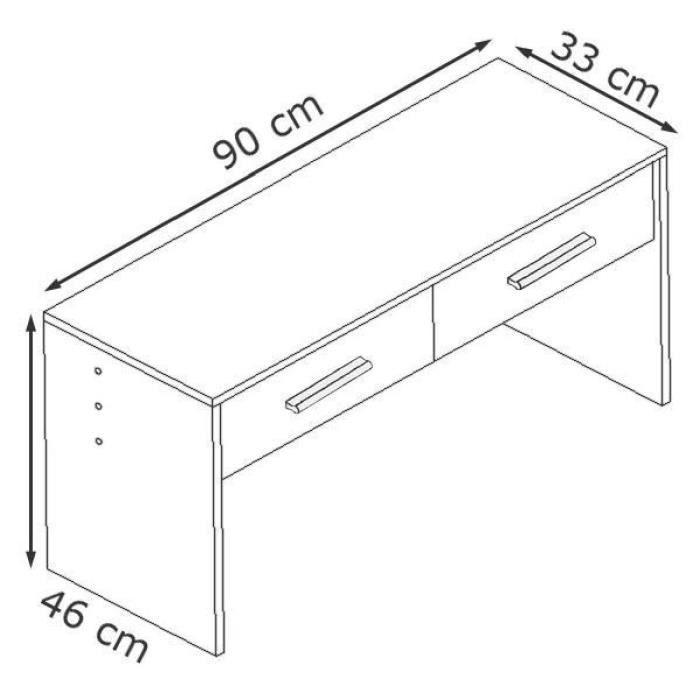 ensemble de meubles d 39 entr e blanc et noir achat vente. Black Bedroom Furniture Sets. Home Design Ideas