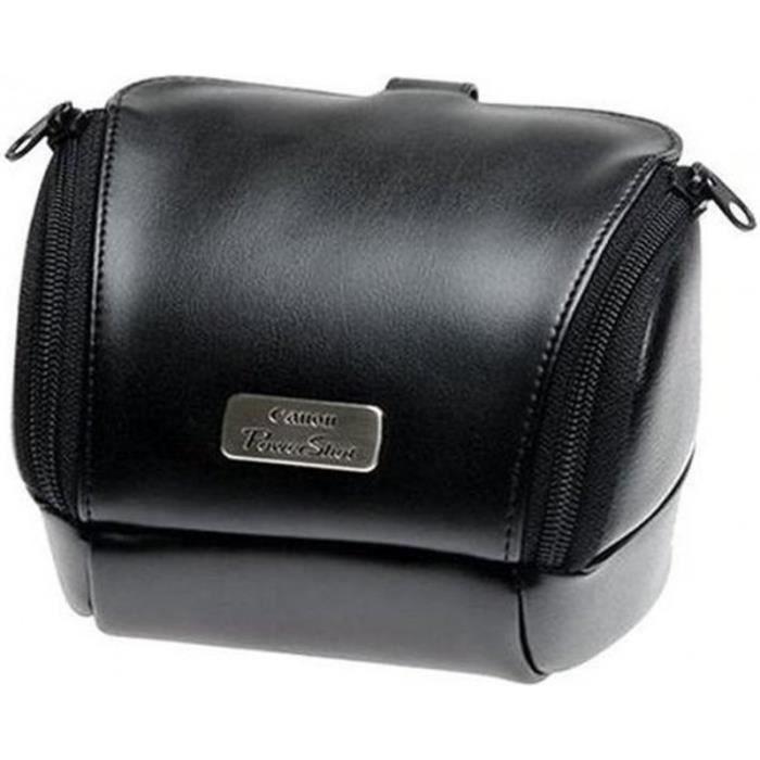 sacoche en cuir souple noir pour appareil photo achat. Black Bedroom Furniture Sets. Home Design Ideas