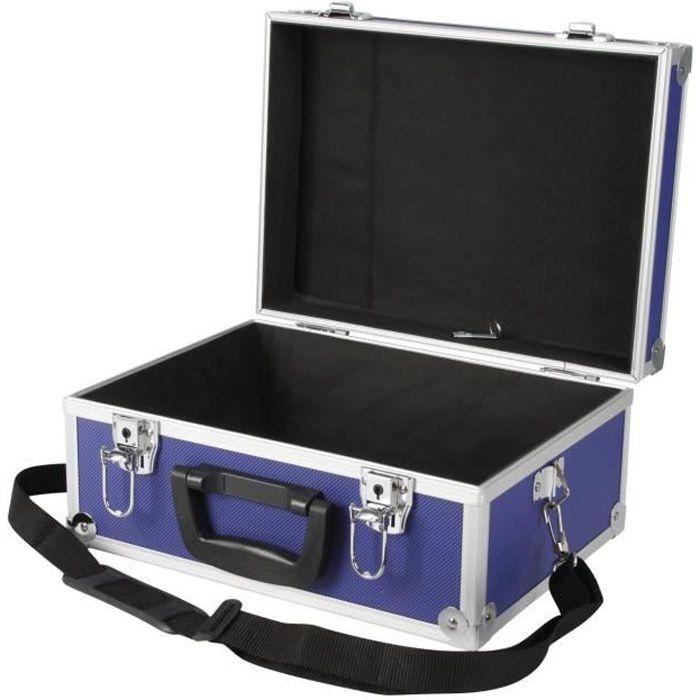 Cogex valise de rangement bandouli re vide bleue achat - Malette outils vide ...