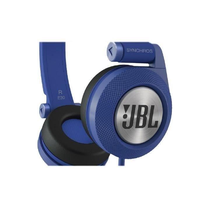jbl casque filaire e30 supra auriculaire bleu casque couteur audio avis et prix pas cher. Black Bedroom Furniture Sets. Home Design Ideas