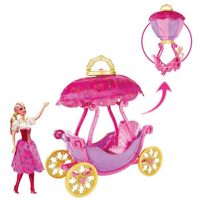 Barbie carrosse montgolfi re plus poup e achat vente - Carrosse barbie ...
