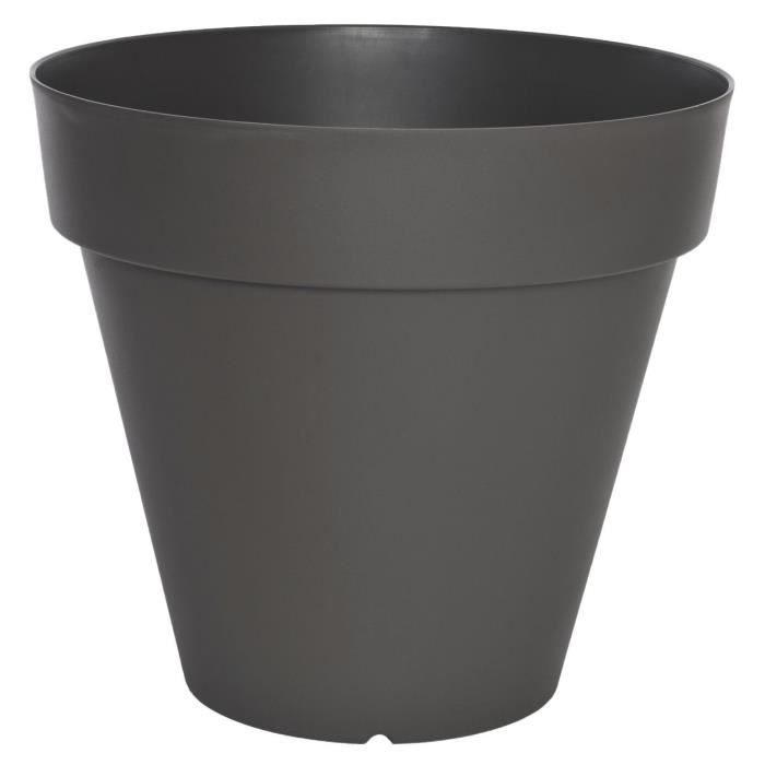Riviera pot soleilla diam tre 50 cm gris paillet achat for Pot jardin gris