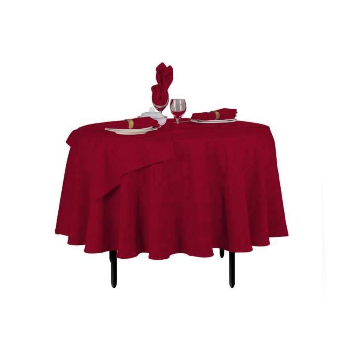 nappe ronde damass bordeaux 180 cm lot de 6 achat vente nappe de table cdiscount. Black Bedroom Furniture Sets. Home Design Ideas