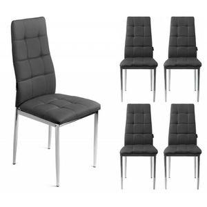 Chaise design noire achat vente chaise design noire for Belles chaises design