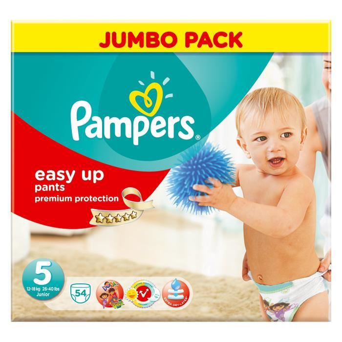 pampers easy up taille 5 junior 12 18 kg couches. Black Bedroom Furniture Sets. Home Design Ideas