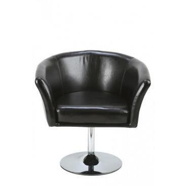 Fauteuil diego noir achat vente fauteuil caoutchouc cdiscount for Petit fauteuil salon design