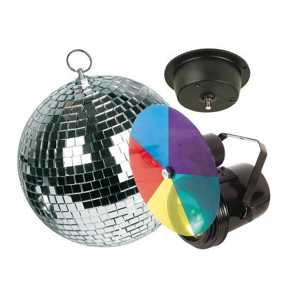 kit lumi re disco disque 5 couleurs boule a facettes diam 20cm boule a facettes avis et prix. Black Bedroom Furniture Sets. Home Design Ideas