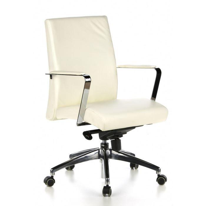 si ge de bureau fauteuil de direction barolo 10 cuir ivoire achat vente chaise de bureau. Black Bedroom Furniture Sets. Home Design Ideas