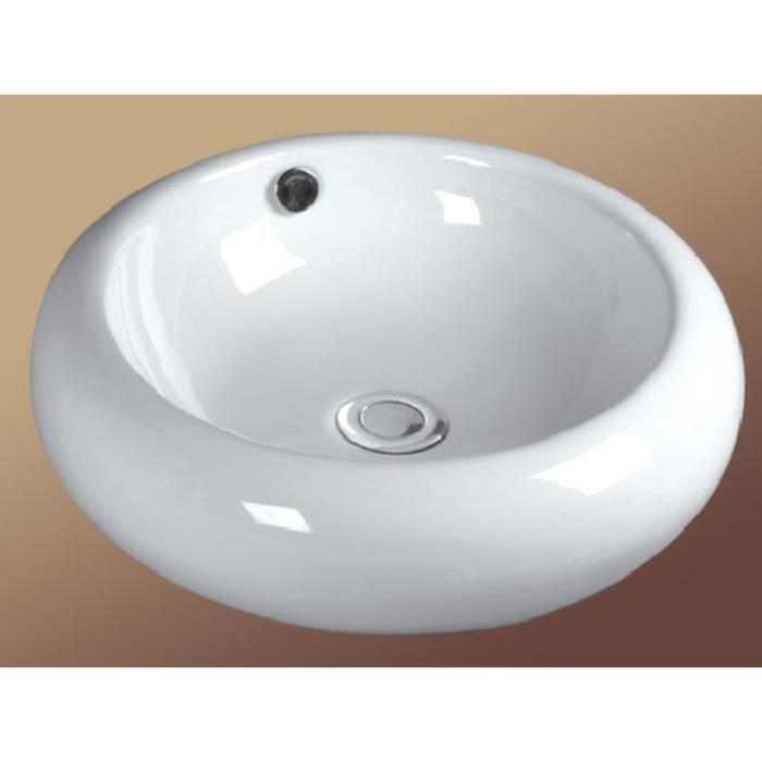 vasque ronde poser c ramique qualit sup rieure achat vente lavabo vasque vasque ronde. Black Bedroom Furniture Sets. Home Design Ideas
