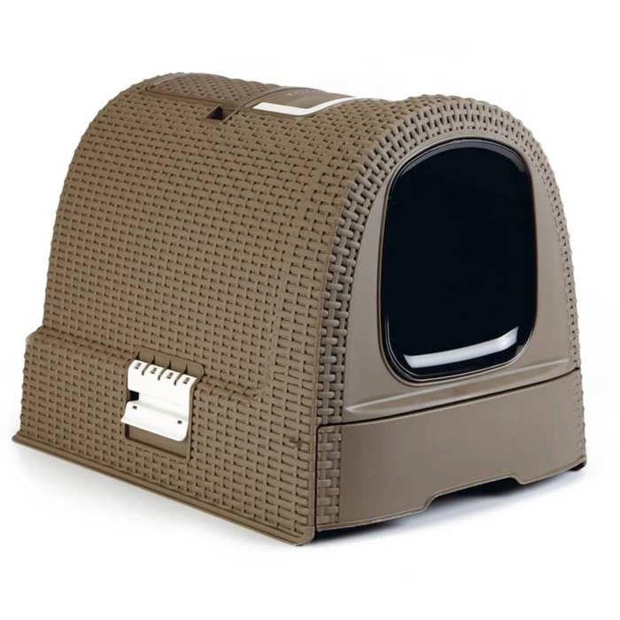 curver maison de toilettes pour chat moka achat vente. Black Bedroom Furniture Sets. Home Design Ideas