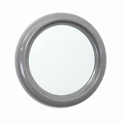 Miroir pvc rond 30cm gris achat vente miroir salle de for Miroir rond gris