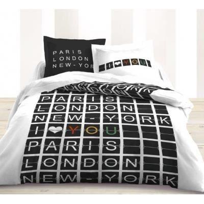 housse de couette et taies d 39 oreiller airport achat. Black Bedroom Furniture Sets. Home Design Ideas