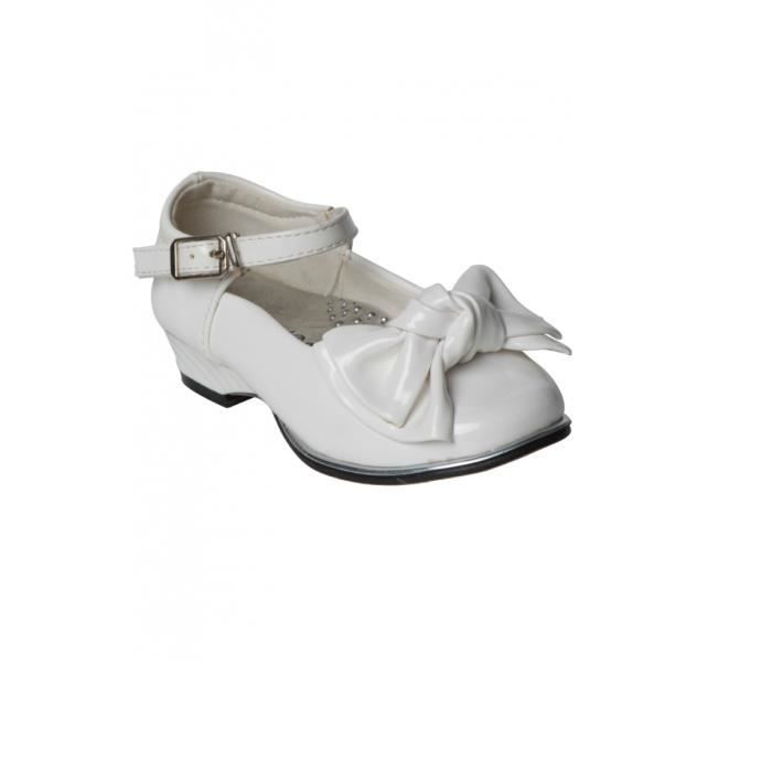 Chaussure fille vernis bout rond blanc achat vente - Meuble a chaussure rond ...