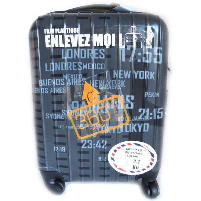 valise trolley abs murano gris 50 cm gris achat vente valise bagage 3609521299077. Black Bedroom Furniture Sets. Home Design Ideas