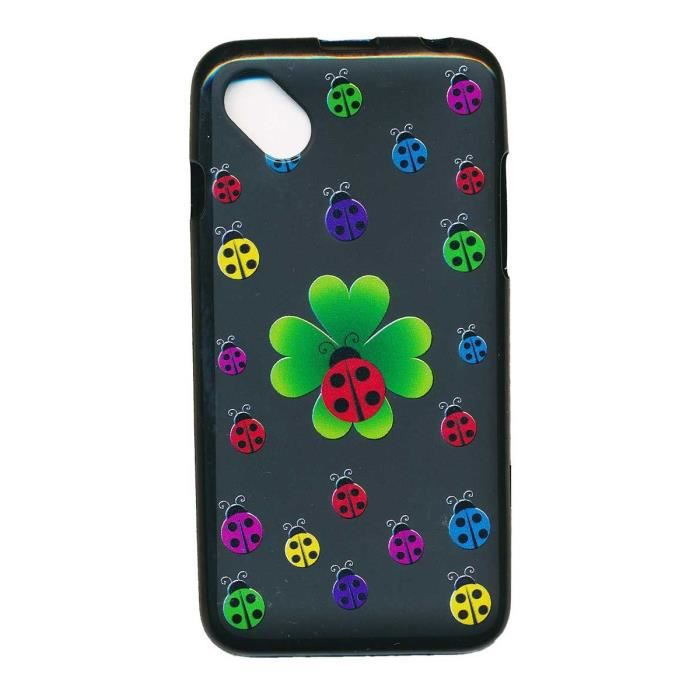 Housse gel de protection pour wiko sunny trefle coccinelle for Housse wiko sunny 2