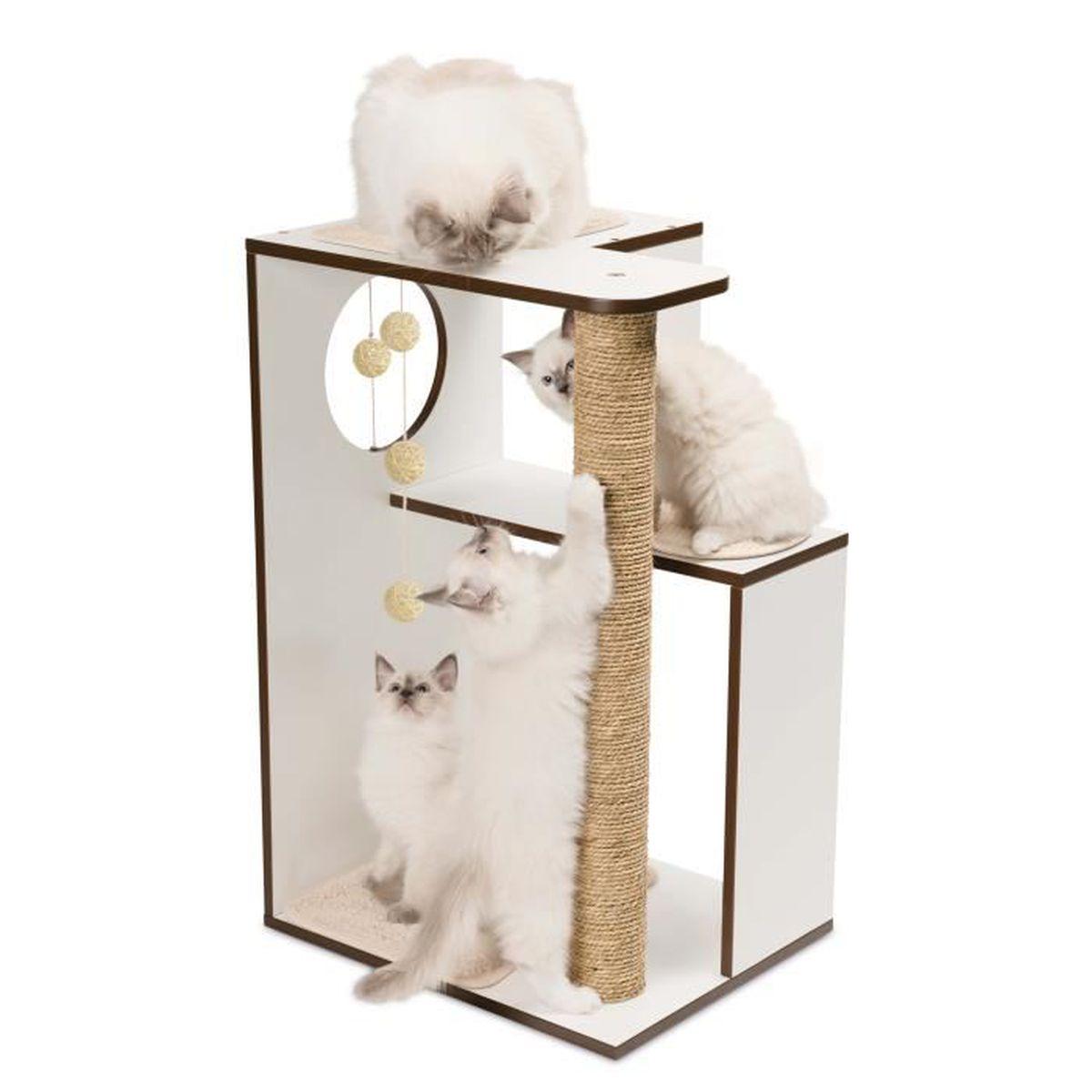 vesper arbre chat box l blanc achat vente arbre chat arbre chat box l cdiscount. Black Bedroom Furniture Sets. Home Design Ideas