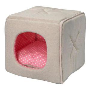 D&D Coussin Dottie - 30x30x30cm - Rose - Pour chien