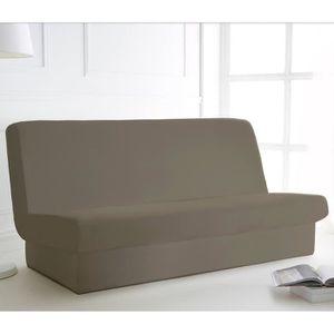 housse de banquette convertible beige achat vente housse de banquette convertible beige pas. Black Bedroom Furniture Sets. Home Design Ideas