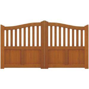 portail bois exotique 3m ref 50galv achat vente portail portillon cdiscount. Black Bedroom Furniture Sets. Home Design Ideas