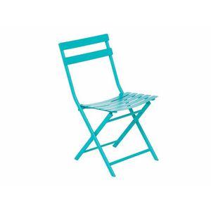 FAUTEUIL JARDIN  Chaise de jardin métal pliante GREENSBORO Lagon