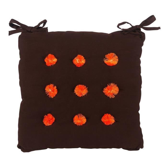 galette de si ge star 40 cm marron achat vente coussin de chaise cdiscount. Black Bedroom Furniture Sets. Home Design Ideas