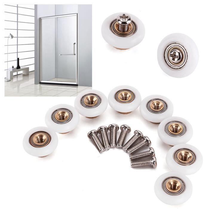 8x roulette 19mm remplacement pour roue de porte cabine douche salle de bain achat vente. Black Bedroom Furniture Sets. Home Design Ideas