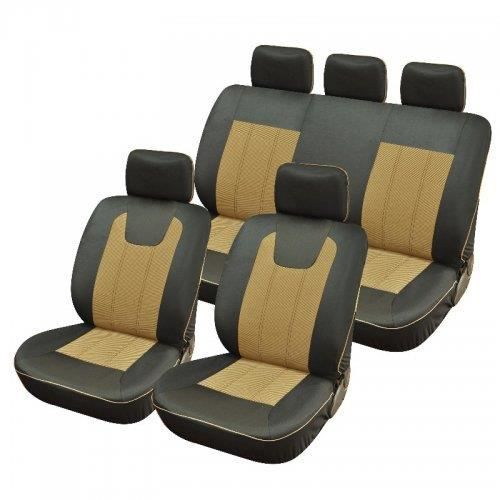 housse pour siege voiture luxe bi couleur beige achat vente housse de si ge housse pour. Black Bedroom Furniture Sets. Home Design Ideas