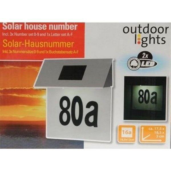 plaque solaire pour numero de porte de rue de m achat vente signal tique ext rieure cdiscount. Black Bedroom Furniture Sets. Home Design Ideas
