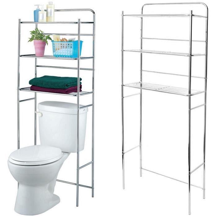 etag re pour toilettes et wc rangement trois niveaux inox. Black Bedroom Furniture Sets. Home Design Ideas
