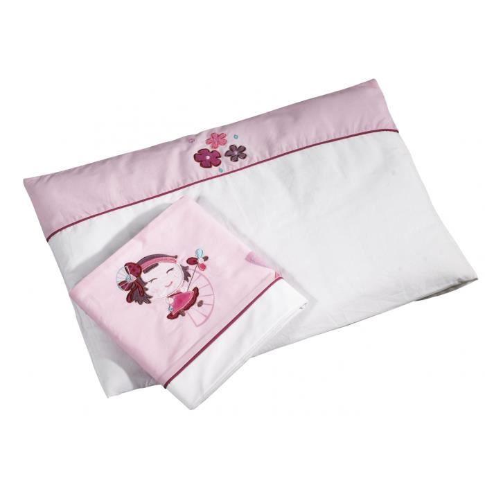 parure de lit hana sauthon achat vente drap plat lit b b parure de lit hana sauth. Black Bedroom Furniture Sets. Home Design Ideas