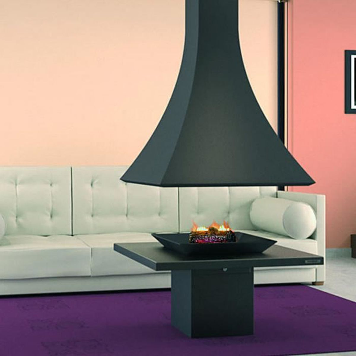 amazing cheminee double foyer 13 cheminee ch91 centrale. Black Bedroom Furniture Sets. Home Design Ideas
