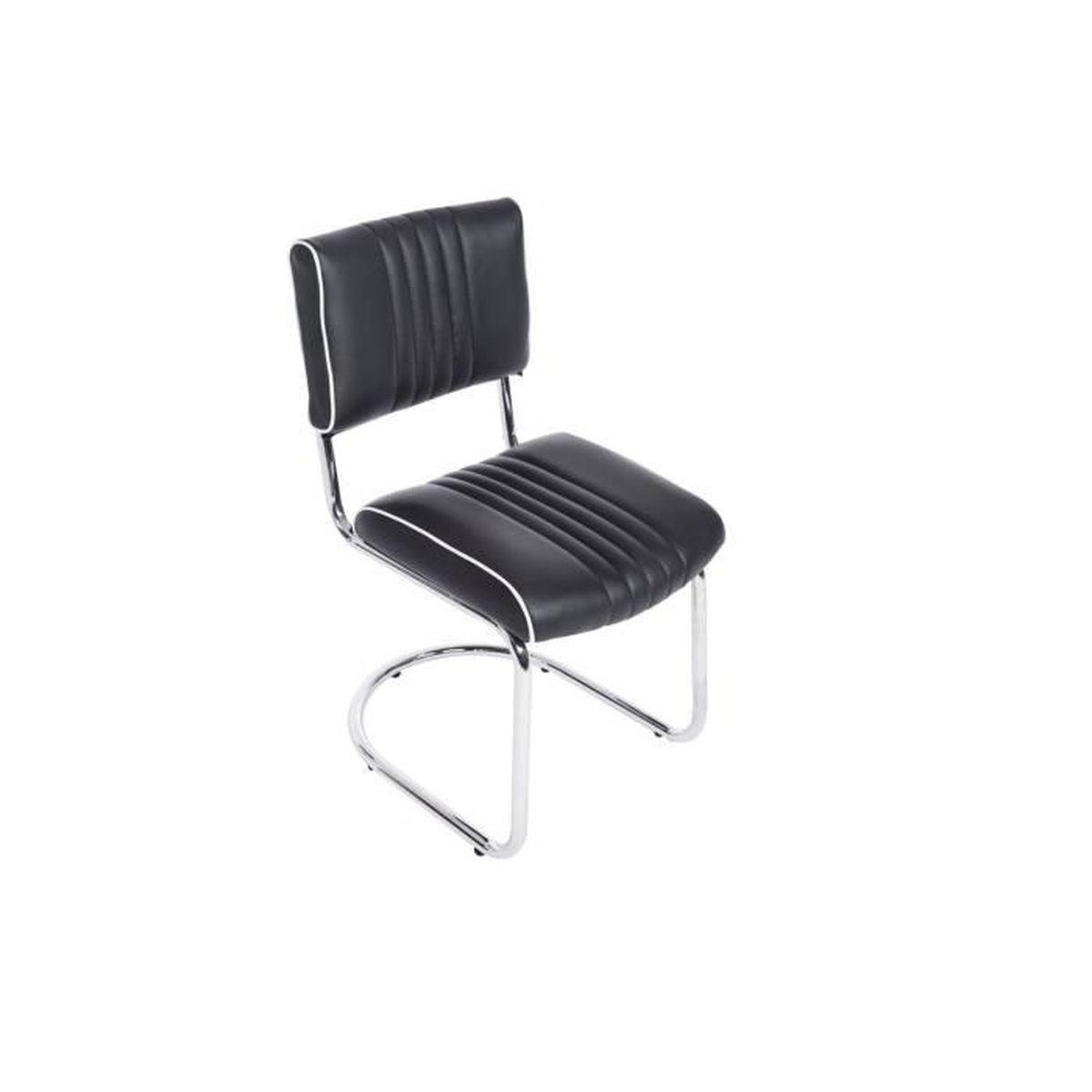 Chaise de salle manger cuisine cantilever design moderne for Chaise moderne de salle a manger noir