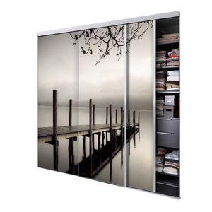 Portes de placard coulissante achat vente portes de for Porte de placard coulissante miroir pas cher