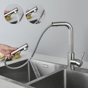 ROBINETTERIE DE CUISINE Auralum® Robinet de Cuisine Mitigeur d'Éviers 360°