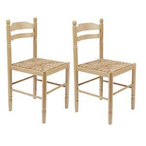 CHAISE JEANNE Lot de 2 chaises de cuisine, de salle à man