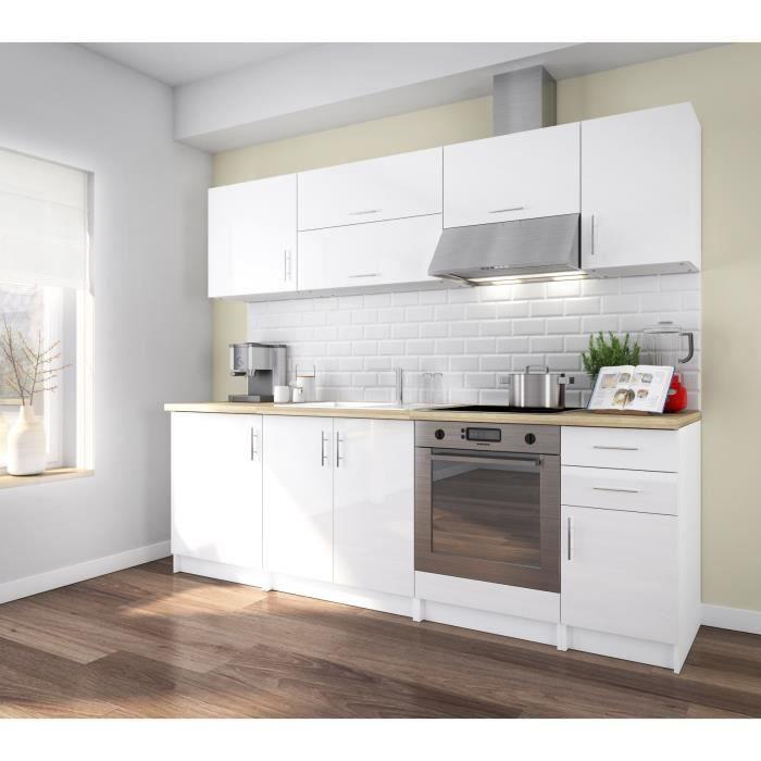 meuble cuisine blanc laque - achat / vente meuble cuisine blanc ... - Meuble Cuisine Blanc Laque