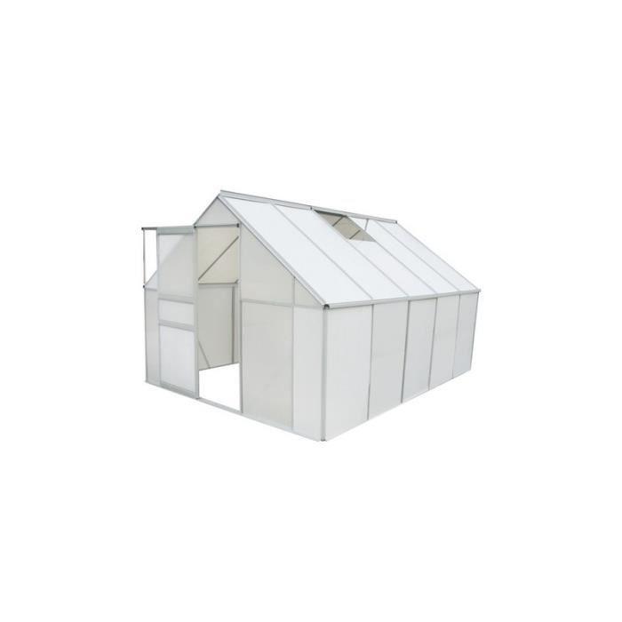 Serre de jardin en polycarbonate 7 75 m2 achat vente - Polycarbonate prix m2 ...