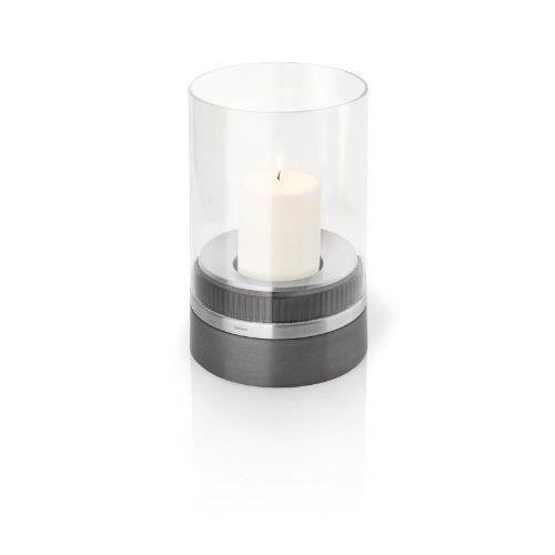blomus lanterne avec bougie piedra bougeoir haut de 3 5 cm acier verre polystone 65274. Black Bedroom Furniture Sets. Home Design Ideas