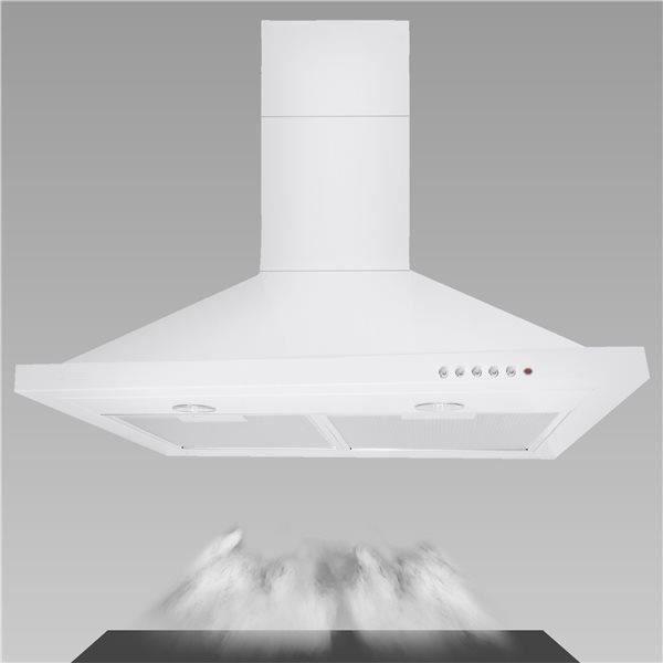 Hotte aspirante de cuisine blanche murale 60 cm 650 m3 h - Hotte de cuisine 60 cm ...