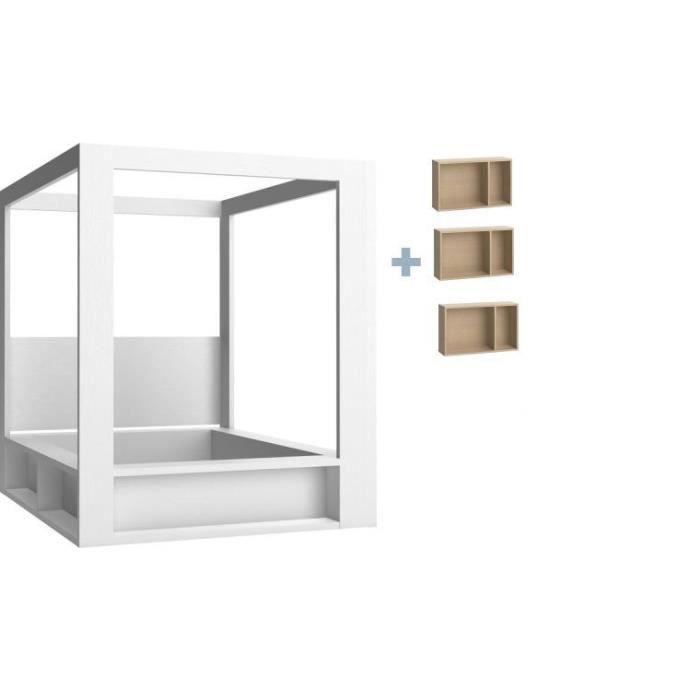 lit a baldaquin 4you 160x200 avec sommier relevable avec. Black Bedroom Furniture Sets. Home Design Ideas